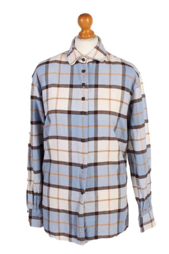 Vintage Flannel Shirt Verse Printed Corduroy M Multi SH3542-0