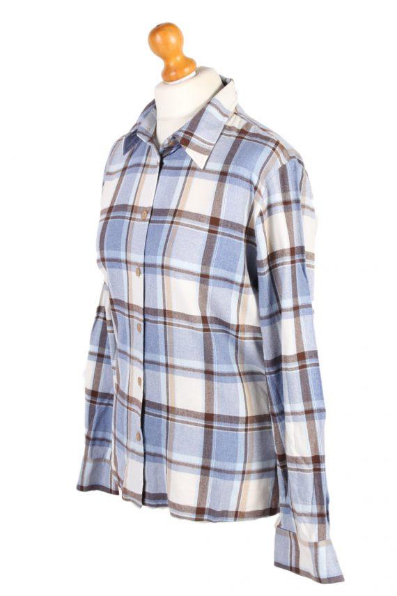 Vintage Flannel Shirt My War Fer Printed Corduroy L Multi SH3546-100603