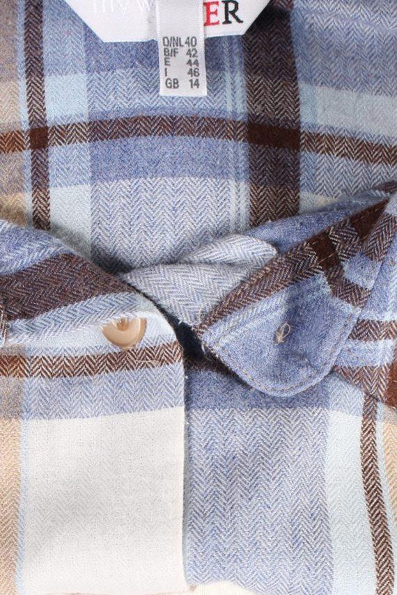 Vintage Flannel Shirt My War Fer Printed Corduroy L Multi SH3546-100605