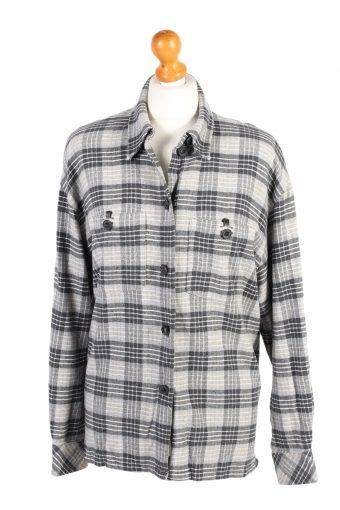 Flannel Checkshirt 90s Retro Women Multi L