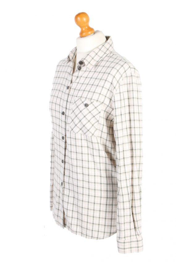 Vintage Flannel Shirt Belle Surprise Printed Corduroy L Multi SH3558-100651