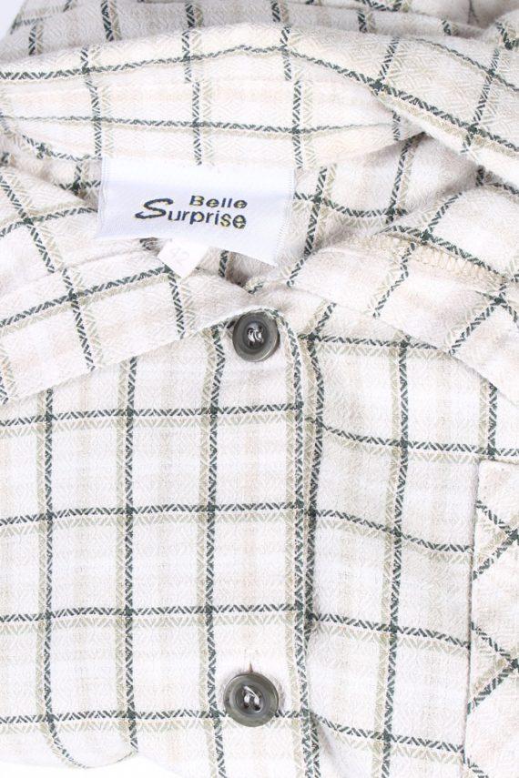 Vintage Flannel Shirt Belle Surprise Printed Corduroy L Multi SH3558-100653