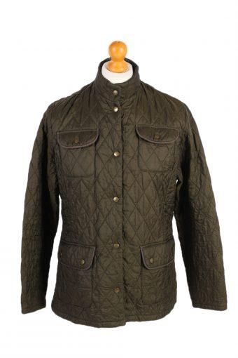 Vintage Barbour Quilted Jacket 90s Coat L Green