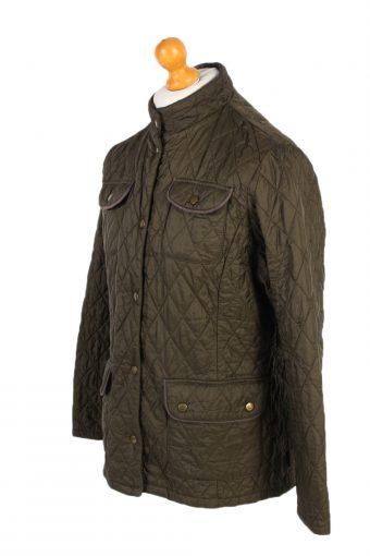 Vintage Barbour Quilted Jacket 90s Coat L Green -C1249-100913