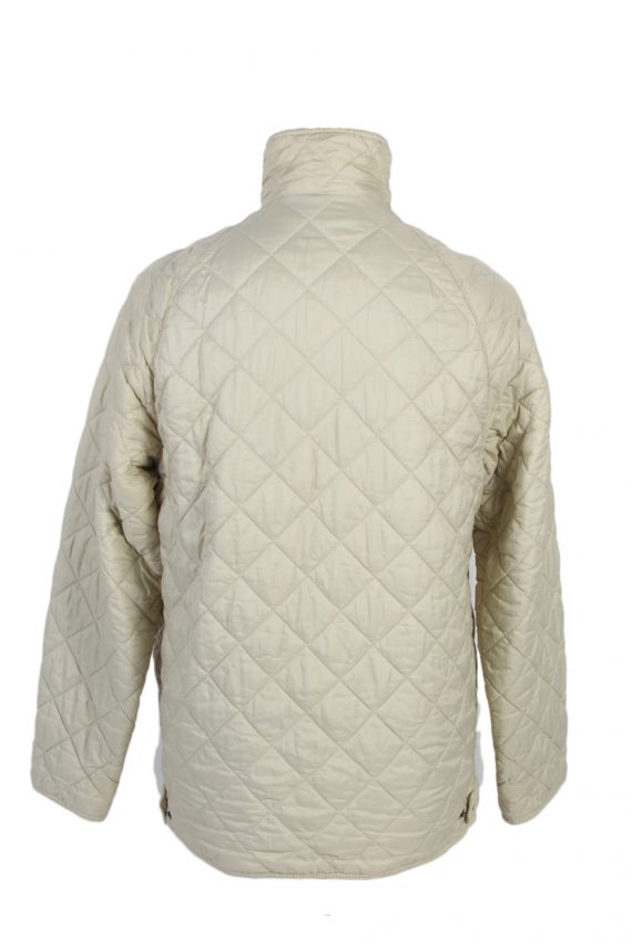 Vintage Barbour Quilted Jacket Coat 90s M White -C1251-100924