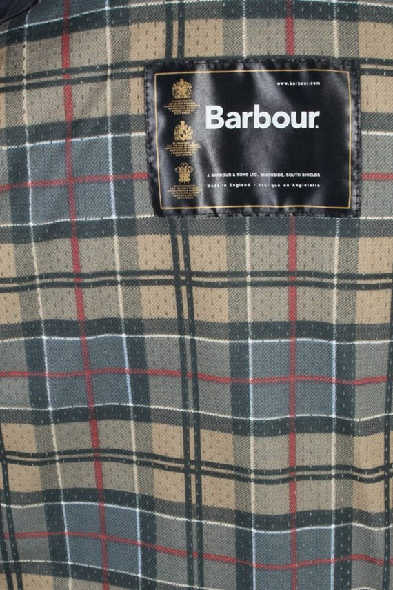 Vintage Barbour Quilted Jacket Coat 90s M White -C1251-100926