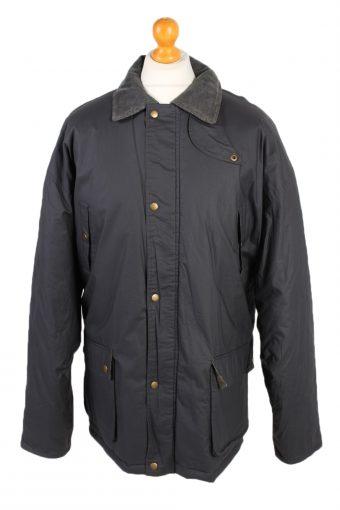 Vintage Waterproof Raincoat Casual Wisent XXL Navy