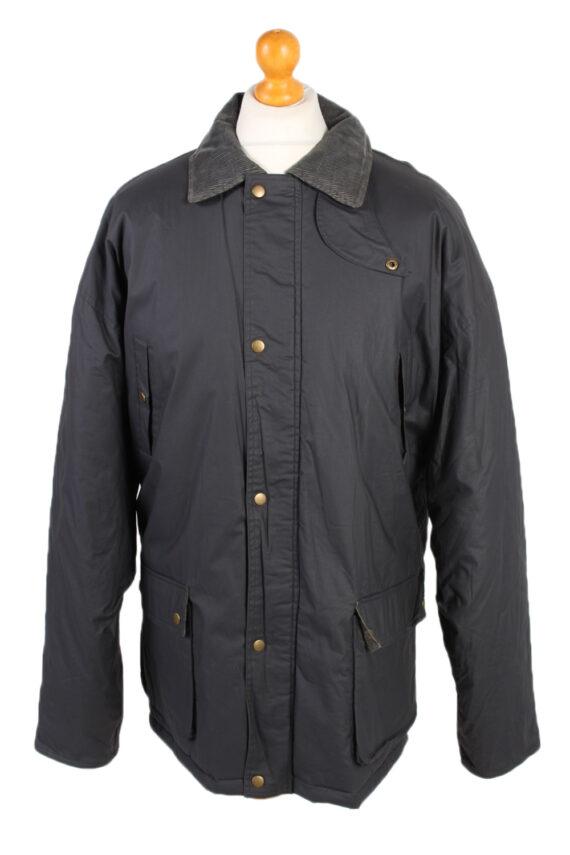 Vintage Waterproof Raincoat Casual Wisent XXL Navy -C1263-0