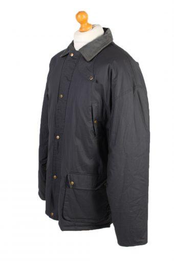 Vintage Waterproof Raincoat Casual Wisent XXL Navy -C1263-100983