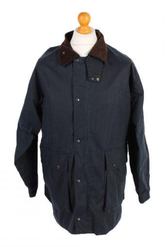 Vintage Waxed Jacket Long Sleeve Winter Mc Neal S Navy