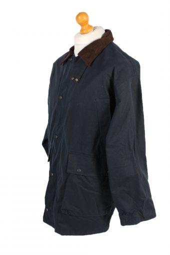 Vintage Waxed Jacket Long Sleeve Winter Mc Neal S Navy -C1273-101033