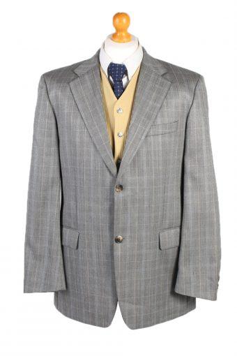 Hugo Boss Windowpane Blazer Jacket Grey XL