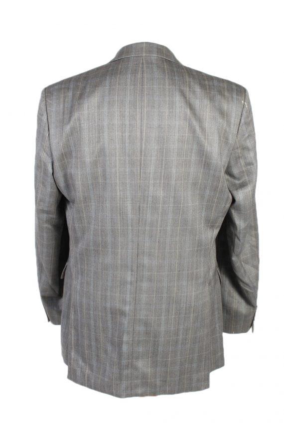 Vintage Hugo Boss Window Pane Blazer Jacket Chest 45 Grey HT2490-101116