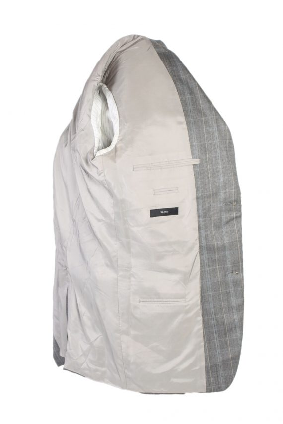 Vintage Hugo Boss Window Pane Blazer Jacket Chest 45 Grey HT2490-101118