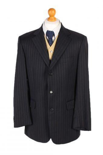 Burberry Blazer Jacket Elsasser Line Design Black L