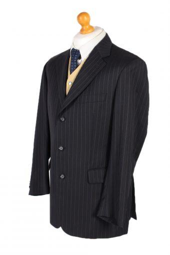 Vintage Burberry's Elsasser Line Design Blazer Jacket Chest 44 Black HT2493-101130