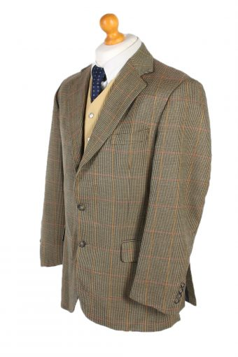 Vintage Burberry's Best Scrier Window Pane Blazer Jacket Chest 43 Multi HT2501-101170