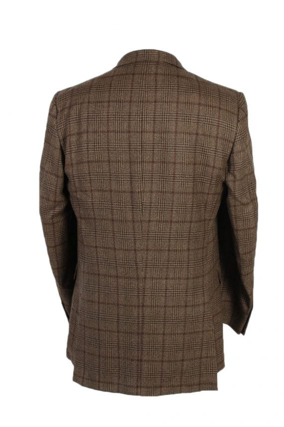 Vintage Burberry's Bond Street Window Pane Blazer Jacket Chest 43 Brown HT2515-101241