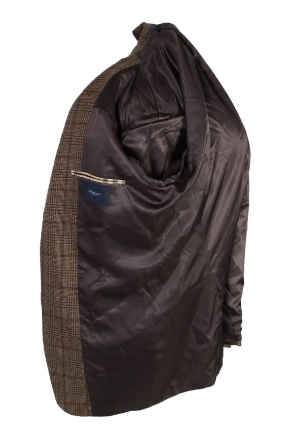 Vintage Burberry's Bond Street Window Pane Blazer Jacket Chest 43 Brown HT2515-101242