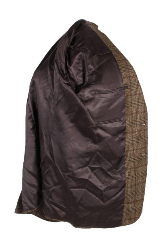 Vintage Burberry's Bond Street Window Pane Blazer Jacket Chest 43 Brown HT2515-101243