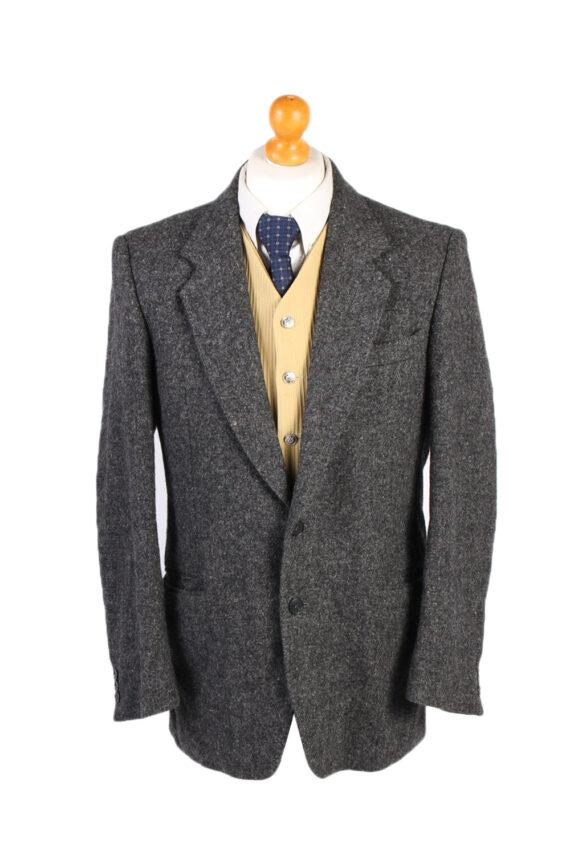 Vintage Harris Tweed Hirmer Plain Blazer Jacket Chest 41 Grey HT2526-0