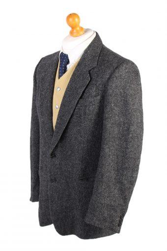 Vintage Harris Tweed Hirmer Plain Blazer Jacket Chest 41 Grey HT2526-101638