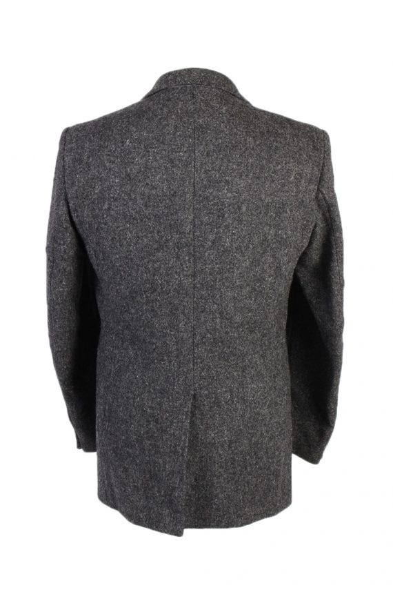 Vintage Harris Tweed Hirmer Plain Blazer Jacket Chest 41 Grey HT2526-101639