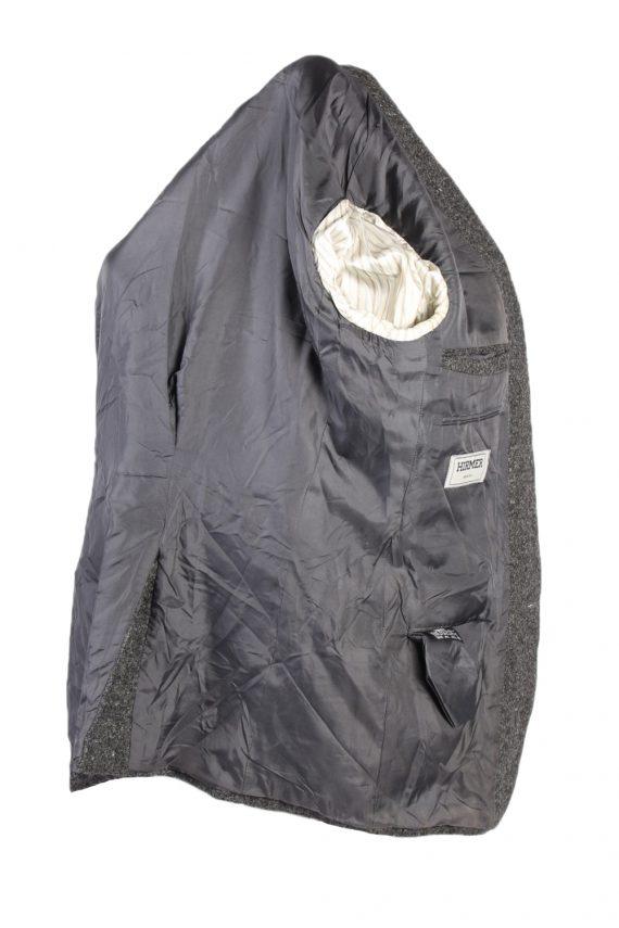 Vintage Harris Tweed Hirmer Plain Blazer Jacket Chest 41 Grey HT2526-101641