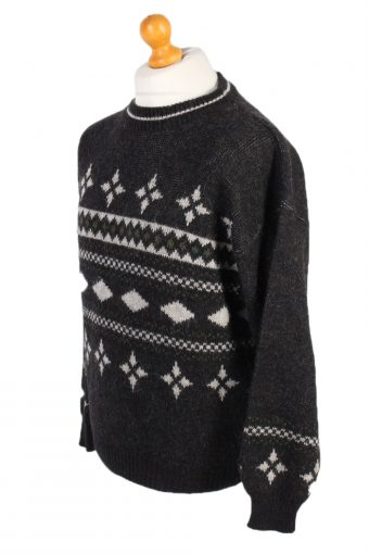 Vintage 90s Cosby Jumper By Renzo Pullover M Black -IL1558-100813