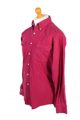 Vintage Wrangler Denim Shirt Cowboy Cut Regular Fit L Fushia SH3585-100755