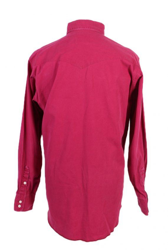 Vintage Wrangler Denim Shirt Cowboy Cut Regular Fit L Fushia SH3585-100756