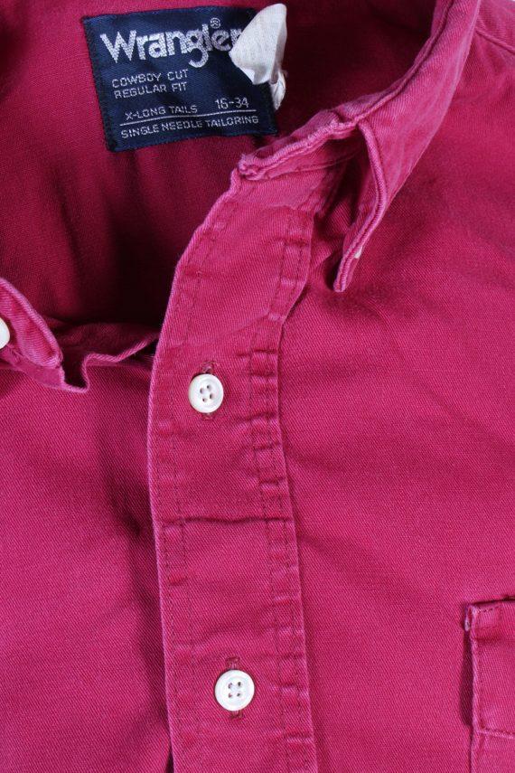 Vintage Wrangler Denim Shirt Cowboy Cut Regular Fit L Fushia SH3585-100757