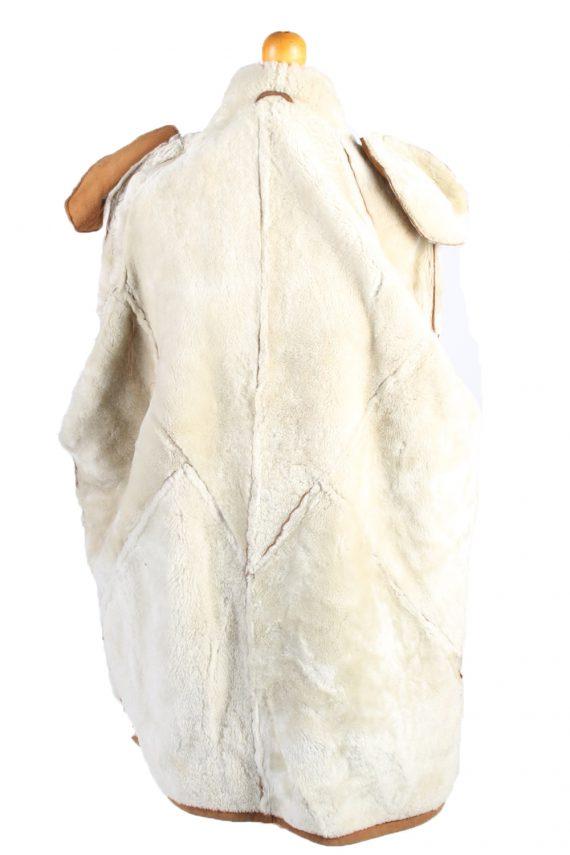 Vintage Fur Lined Coat Sheepskin Leather XXL Camel -C1299-103681