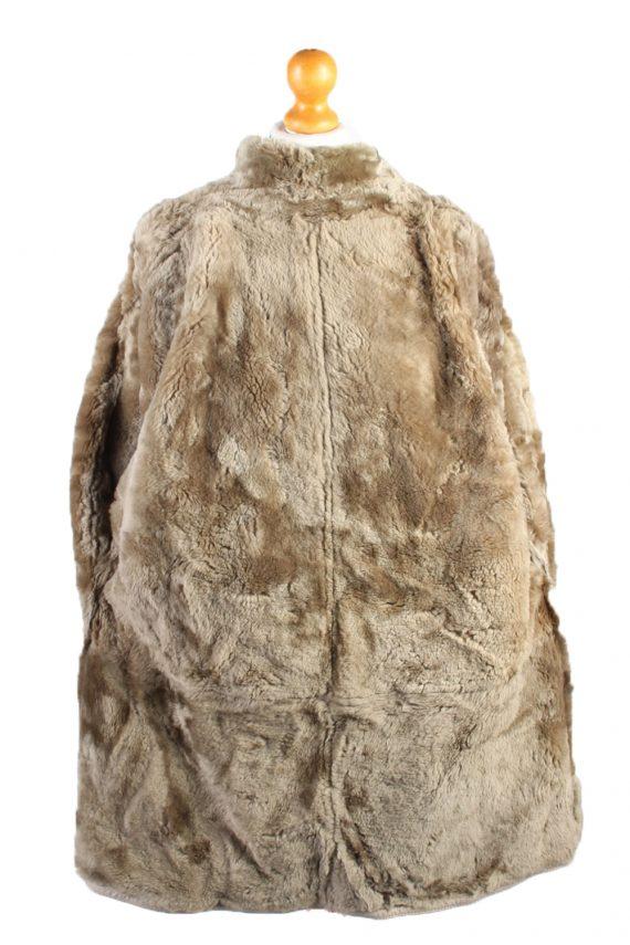 Vintage Fur Lined Coat Sheepskin Leather L Beige -C1316-103810