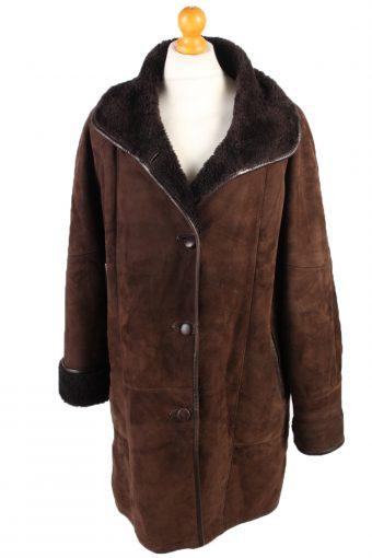 Shearling War Jacket Vintage Sheepskin Leather XL Brown