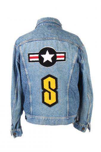 Lee Denim Jacket Star Printed Remake Blue L