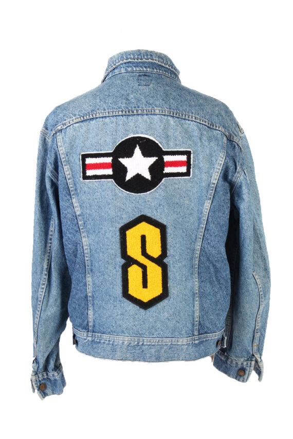 Vintage Lee Denim Jacket Star Printed L Blue -DJ1476-0
