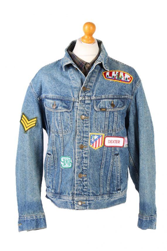 Vintage Lee Denim Jacket Star Printed L Blue -DJ1476-101785