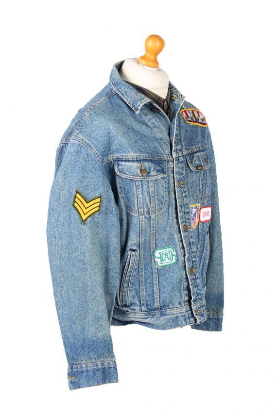Vintage Lee Denim Jacket Star Printed L Blue -DJ1476-101786