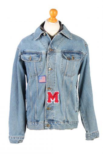 Lee Denim Jacket USA Printed Remake Blue L