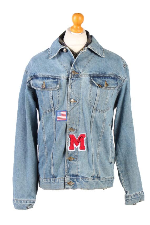 Vintage Lee Denim Jacket USA Printed L Blue -DJ1479-0