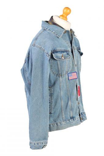 Vintage Lee Denim Jacket USA Printed L Blue -DJ1479-101797