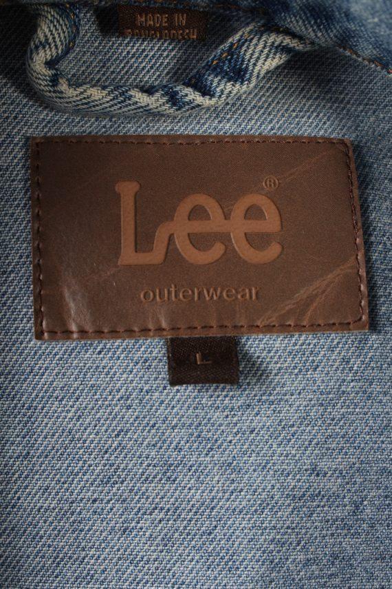 Vintage Lee Denim Jacket USA Printed L Blue -DJ1479-101799