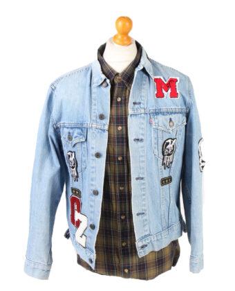 Denim Jacket Levi's Vintage Good Luck Printed L Blue -DJ1484-0