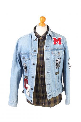 Denim Jacket Levi's Good Luck Printed Blue M