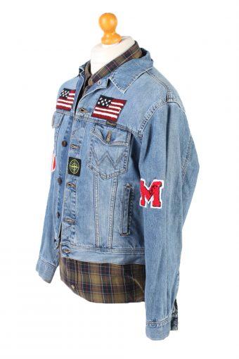 Vintage Wrangler Denim Jacket USA Printed M Blue -DJ1487-101805