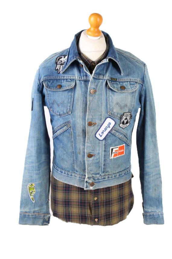 Vintage Blue Denim Jacket Harley Davidson Printed S Blue -DJ1489-0
