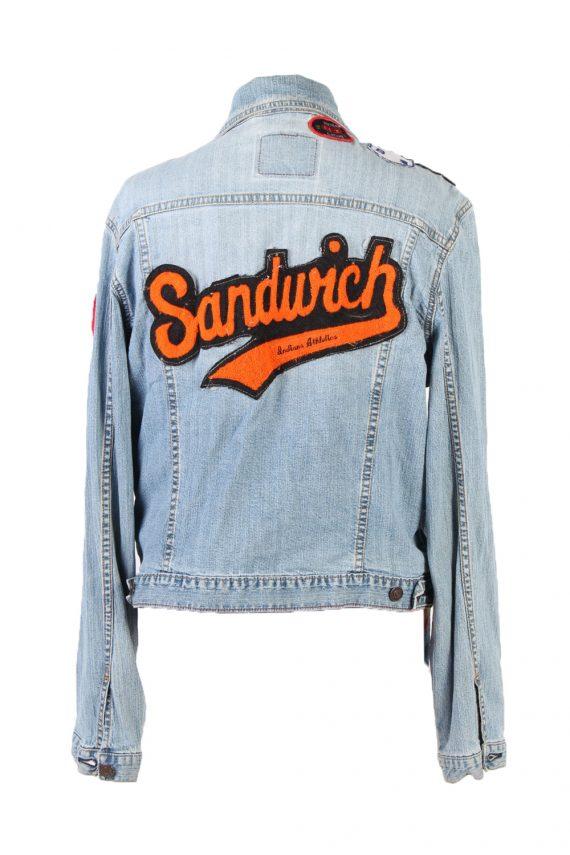 Vintage Levi's Denim Jacket Sandwich Printed L Blue -DJ1494-101858