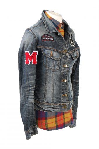Denim Jacket Lee Vintage Union Runners Printed L Blue -DJ1495-101821