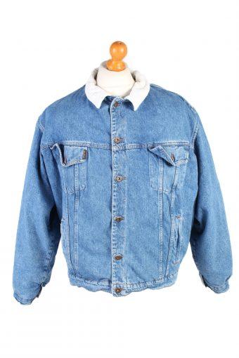 Westerns Denim Jacket Sherpa Blue L